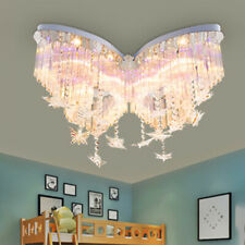 Butterfly Ceiling Lamps Crystal Light LED Lighting Hanging Line Shade Chandelier