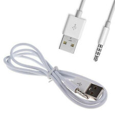 3.5mm AUX Audio to USB 2.0 Male Charge Cable Adapter Cord Car iPod MP3 White