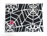Halloween Placemat Spiderweb Cotton Black Silver Red Spider Holiday Dining Table