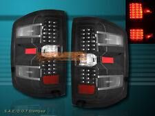 2014+ CHEVY SILVERADO TAIL LIGHTS 1500 BLACK HOUSING WITH LED NEW