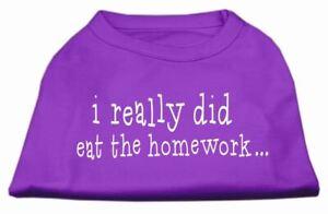 I really did eat the Homework Screen Print Dog Cat Pet Puppy Shirt