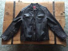 Vintage LEVI'S Moto Leather Jacket Large Black Distressed Look - AWESOME LOOK!