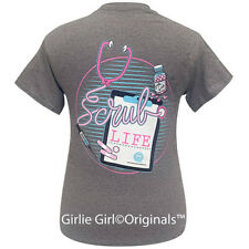 "Girlie Girl Originals ""Scrub Life"" Graphite Short Sleeve T-Shirt-2204"