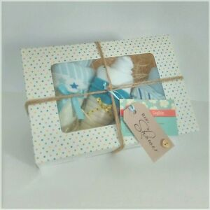 Baby shower nappy cake gift body suit cupcakes new baby boy or girl