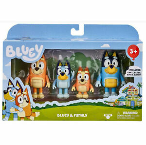 Bluey&Family Bingo Toys 4 Pcs Pack Action Figure Set Collection Toys Kids Gift A
