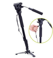YUNTENG 288 Camera DV Monopod Fluid Pan Head + Unipod Holder tripod +Phone clip