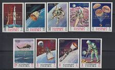 Fujeira 1969 ** Mi.A399/07 B Weltraum Space Moon Landing (ovpt. in gold)