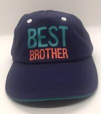 Carters Best Brother Cap Hat 12-18M Just One You Blue 100% Cotton 813bf09e66bf