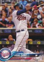 2018 Topps Series 1 #288 Miguel Sano Minnesota Twins Baseball Card