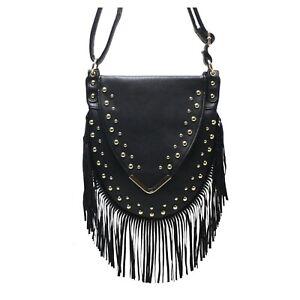 Women's Fringe Messenger Shoulder Tassel Bag Handbag Ladies Cross body Bag