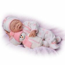 18 Inch Realistic Weighted Baby Girl Doll w/Plush Snowman Pal bThe Ashton-Drake