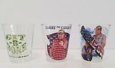 Larry the Cable Guy: 3 pc Shot Glass Set Clear Glass