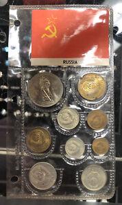 USSR Soviet Union Russia 9 Coin Mint Set