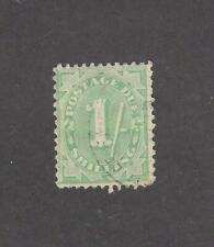 POSTAGE DUES, 1908-09 NEW DESIGN: 1/- Dull Green SG D58, BW D51 ($30), fine used