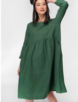 "🌱🍃🌱 【NEW 】 Gorman Green ""GROWERS"" Linen Smock Curve Day Dress Size 16/18 XL"