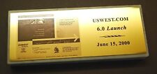 Vintage US West Phone Company Telecommunications  USWEST.COM Marble Paperweight