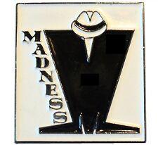 Madness SKA Band Black & White 2 Tone MOD Metal Reggae Enamel Pin Badge 26mm NEW