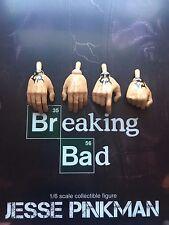 Threezero Breaking Bad BrBa Jesse Pinkman Tattooed Hands x 4 loose 1/6th scale