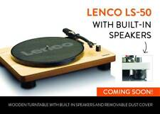 LENCO LS-50 WOOD RECORD PLAYER WITH SPEAKERS INTEGRATED AND USB NEW WARRANTY