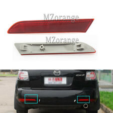 Pair For Mazda CX-7 2010 2011 2012 Rear Bumper Lamps Reflectors Red Cover Lights