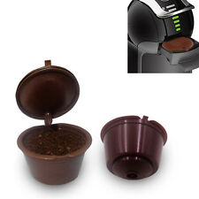 Refillable Reusable Coffee Capsules Pods for Dolce Gusto Machine Brown UK STOCK