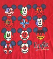 Walt Disney World Epcot Mickey Mouse Vintage 90s Large Red T Shirt
