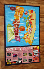 Grand Theft Auto Vice City Map / EverQuest rare small Poster 42x28cm PS2