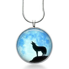 Wolf Silhouette Necklace - Wolf Howl Jewelry - Nature Pendant