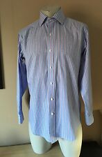 MENS POLO RALPH LAUREN LONG SLEEVED SHIRT Size 15.5 - 24 Inch Pit To Pit