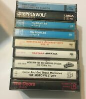 Cassette Tape Lot Rock Tapes Doors Pink Floyd Beattles Some Need Pads Replaced