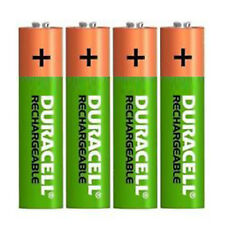 4 x Duracell AAA 800 mAh Rechargeable Batteries, hr03, dc2400, Stay Charged