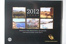 2012 P&D Atb Uncirculated Us Mint Quarter Set P&D 10 coins