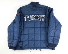 Vintage Tommy Hilfiger Spell Out Jacket XL Puffer Bubble Coat Jeans 90s EUC