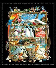 Observación de aves de razas de algodón acolchado Panel De Tela O Colgante De Pared