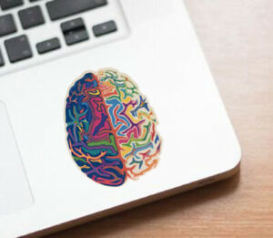 "Psychedelic Brain Rainbow Colorful Peace Hippie Love Grateful Dead 3"" Sticker"