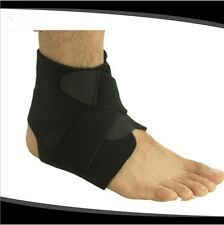 Black Sports Basketball Ankle Foot Elastic Protector Brace Support Wrap Gear B