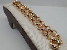 14K jaune or belcher boulon anneau chaîne solide bracelet des femmes 8 '21cm