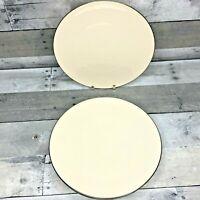 "6 Lenox Olympia Dinner Plates w/ Platinum Rim 10 1/4"" Made in USA EUC FREE SHIP"