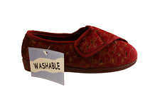 Ladies Touch Fastening Washable Shoe Wide  Slippers 3 Colours Size 3 4 5 6 7 8