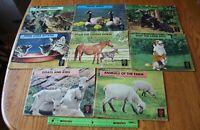 8 Vintage 1946 Encyclopedia Britannica Picture stories kids Animals & Nature