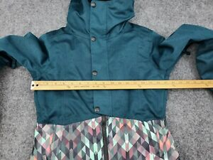 Women's XS 686 Snowboarding Ski Coat Thich Green Jacket Breathable 10,000 MM