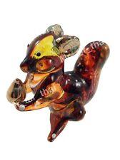 Miniature Squirrel Glass Blown animals figurine Art glass figurine dollhouse