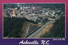 Aerial View of Asheville, North Carolina, Land of the Sky, Town Roads - Postcard