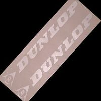 DUNLOP SILVER 8.25 inch stickers decals f4i tires r 1 3 pilot sport decals 6 m