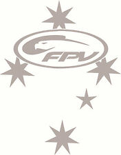Silver Ford FPV Southern Cross Sticker Decal 250 x 195mm