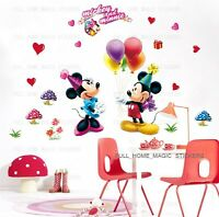 Mickey Minnie Mouse Party Balloons Wall Stickers Child/Nursery/Girl Room Decor