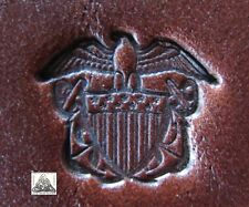 Rare Large United States Navy Insignia Metal Leather Stamp Letter Press Clay