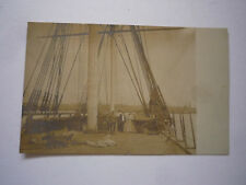 Vintage Postcard Warship Deck Real Photo With People early 1900's?