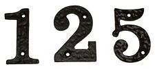 Door / House Numbers & Letters in Black Cast Iron