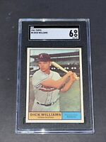 1961 Topps #8 Dick Williams SGC 6 Newly Graded & Labelled
